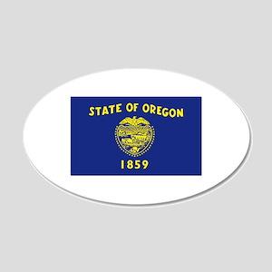 Oregon Flag 20x12 Oval Wall Decal