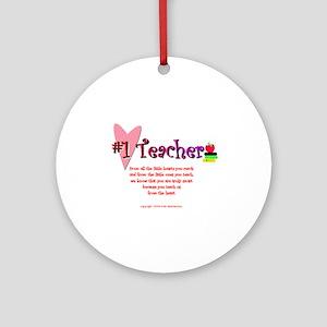 #1 Teacher Ornament (Round)