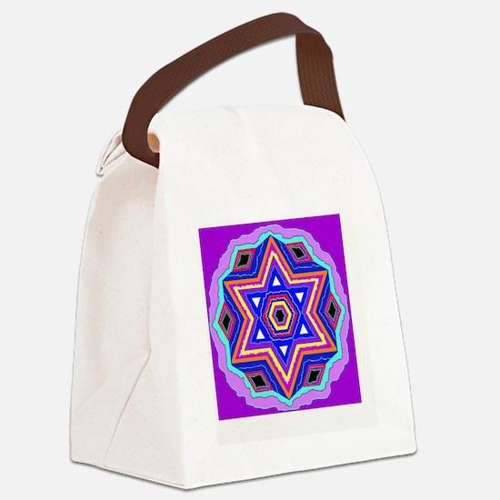 Jewish Star of David. Canvas Lunch Bag