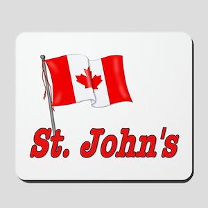 Canada Flag - St. John's Text Mousepad