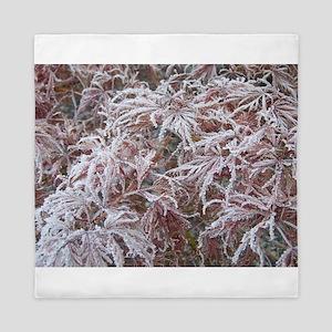 Japanese Maple in Frost Queen Duvet
