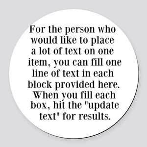 Lines of Text to Personalize Round Car Magnet