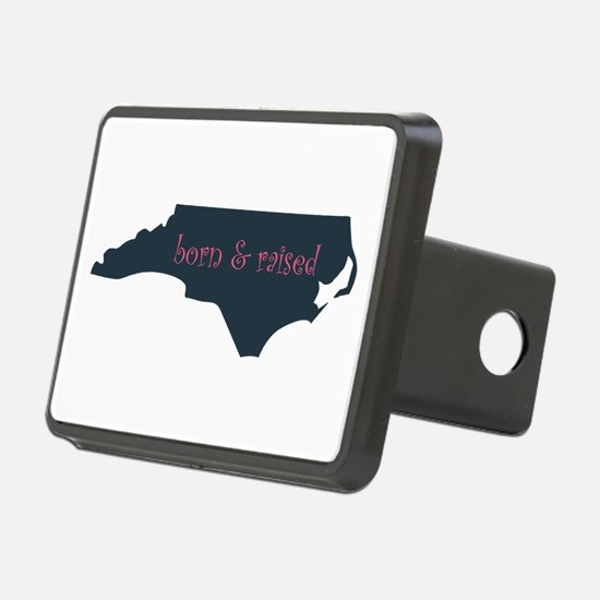NC Born & Raised (pink) Hitch Cover
