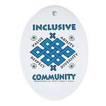 Inclusive Community Oval Ornament