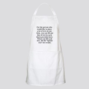 Lines of Text to Personalize Apron