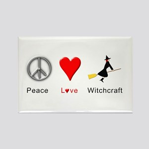 Peace Love Witchcraft Rectangle Magnet