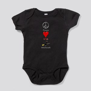 Peace Love Witchcraft Baby Bodysuit