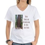 When Things are Overwhelming Women's V-Neck T-Shir