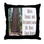 When Things are Overwhelming Throw Pillow
