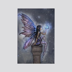 Little Blue Moon Fairy Fantasy Art Magnets