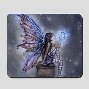 Little Blue Moon Fairy Fantasy Art Mousepad