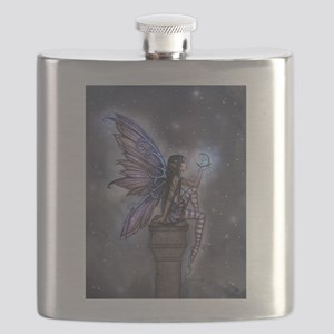 Little Blue Moon Fairy Fantasy Art Flask