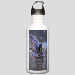 Little Blue Moon Fairy Fantasy Art Water Bottle
