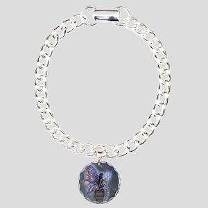 Little Blue Moon Fairy Fantasy Art Bracelet
