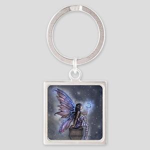 Little Blue Moon Fairy Fantasy Art Keychains