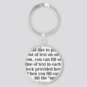 Lines of Text to Personalize Keychains