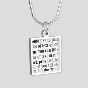 Lines of Text to Personalize Necklaces
