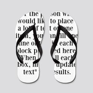 Lines of Text to Personalize Flip Flops