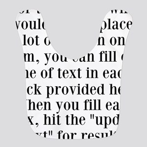 Lines of Text to Personalize Bib
