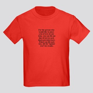 Lines of Text to Personalize T-Shirt