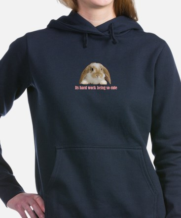 Cute Bunny Women's Hooded Sweatshirt