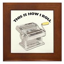 How I Roll Pasta Framed Tile