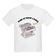 How I Roll Pasta Kids Light T-Shirt
