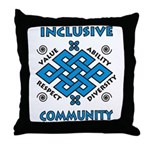 Inclusive Community Throw Pillow