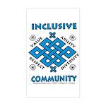 Inclusive Community Rectangle Sticker