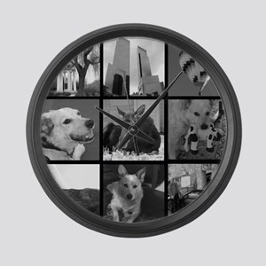 Your Photos Here - Photo Block Large Wall Clock