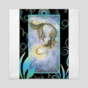 Deep Sea Moon Mermaid Fantasy Art Queen Duvet