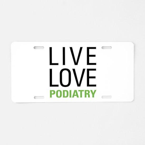 Podiatry Aluminum License Plate