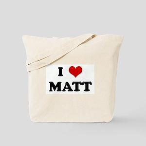 I Love MATT Tote Bag
