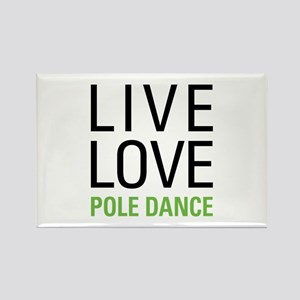 Pole Dance Rectangle Magnet