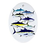 7 tuna Ornament (Oval)