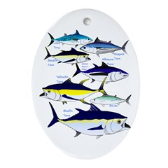 7 tuna Ornament (Oval)