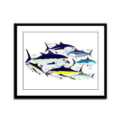 7 tuna Framed Panel Print