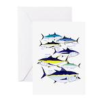 7 tuna Greeting Cards