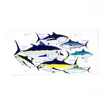 7 tuna Aluminum License Plate