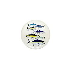 7 tuna Mini Button (100 pack)
