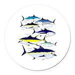 7 tuna Round Car Magnet