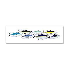 7 tuna Car Magnet 10 x 3