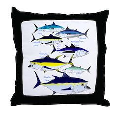 7 tuna Throw Pillow