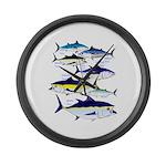 7 tuna Large Wall Clock