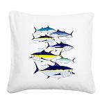 7 tuna Square Canvas Pillow