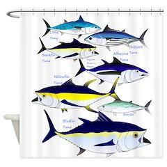 7 tuna Shower Curtain