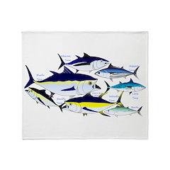 7 tuna Throw Blanket