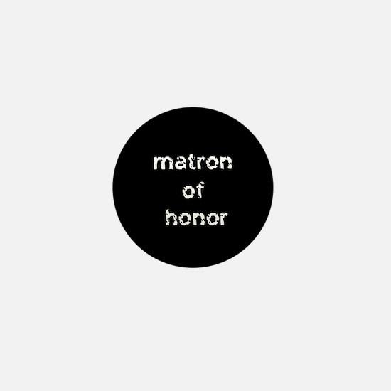 Matron of Honor Black Mini Button