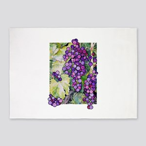 grape2 5'x7'Area Rug