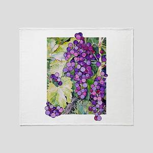 grape2 Throw Blanket